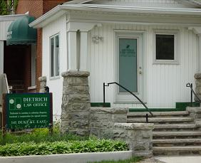 Dietrich Law Office - 141 Duke St. E. Kitchener, Ontario 519-749-0770